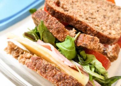 Un sandwich sur les pistes