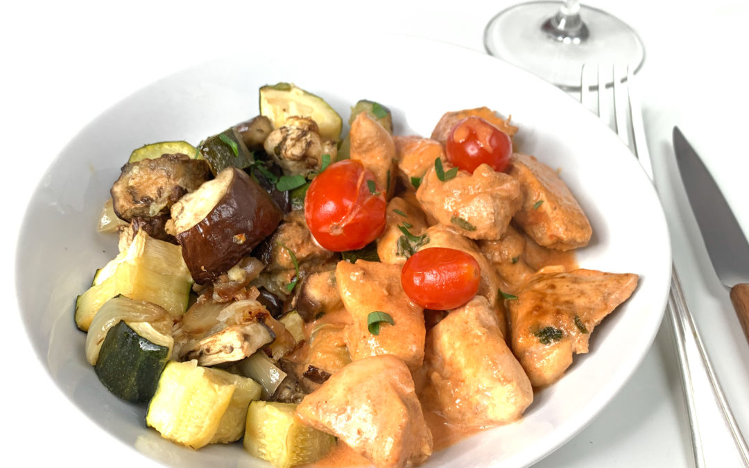 Poulet coco tomate